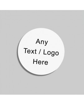 Personalised Round Stickers for business with any Text and Logo