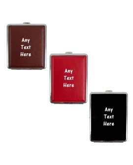 Personalised Faux Leather Cigarette Case Hold 20Pc With PDQ Tin Tobacco Smoking