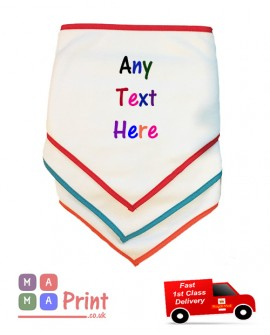 Personalised baby bib GIFT  With ANY TEXT / Name Personlised Baby gift
