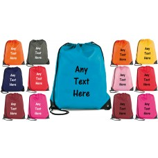 Personalised Drawstring Bag - Bag Sack - School - backpack PE Swim Custom Printing
