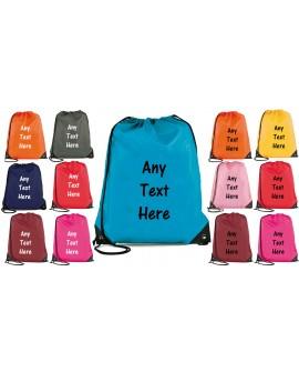 Personalised Drawstring Bag - Bag Sack - School - backpack PE Swim Custom Printing