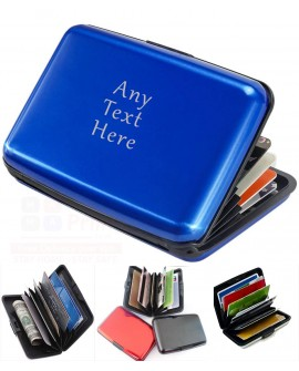Personalised Credit Card Holder Aluminium Custom Engraved Gift RFID shield