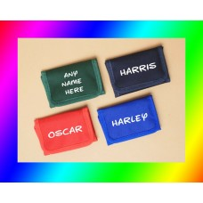 Kids Personalised Printed Quality Ripper Wallet Xmas Gift / kids