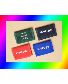 Kids Personalised Printed Quality Ripper Wallet Xmas Gift / kids