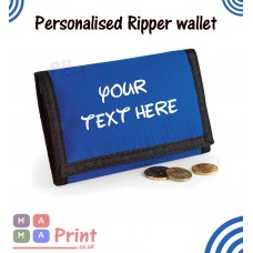 Mens Personalised Printed Quality Ripper Wallet