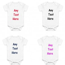 Personalised Funny Baby Vest Grow Christening Bodysuit Personlised Baby gift