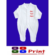 PERSONALISED Baby Grow SLEEPSUIT - ANY TEXT