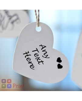 Personalised  Favour Heart Tags for any occasion ❤ Personalised with ANY TEXT