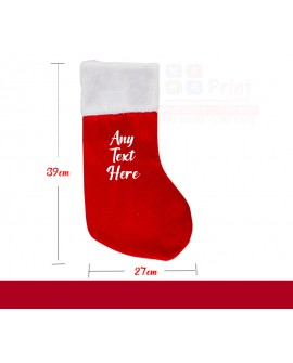 Personalised Printed Christmas Stocking Xmas Santa Sack Kids / Adult 39 CM long