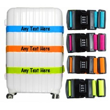 Personalised Luggage Strap printed Suitcase Safe Luggage Combination Lock