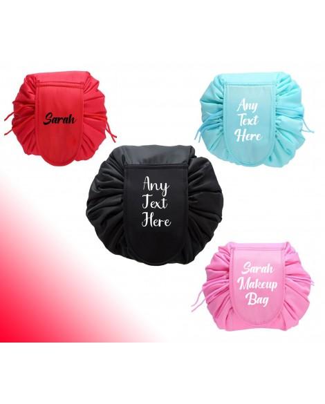 Personalised Makeup Drawstring makeup Bags Travel Cosmetic Storage Make Up Bag