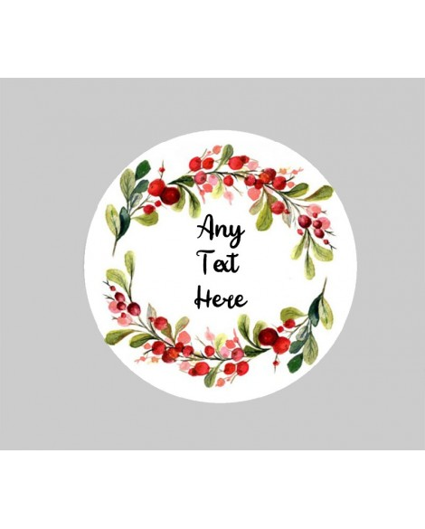 Personalised Christmas Favour  Sticker ❤  Personalised with Any Text